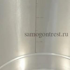 Перегонный куб SUS304 36 л, купольная крышка, зиговка, подготовкой под ТЭН