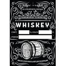 """Этикетка самоклеящаяся """"Whiskey"""", прямоугольная, 70х100 мм, 20 шт/уп"""