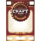 """Этикетка самоклеящаяся """"Craft Beer"""", прямоугольная, 70х100 мм, 20 шт/уп"""