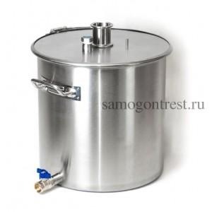 Перегонный куб Люкссталь газ/индукция на обруче 25 л с краном