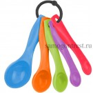 Набор ложек мерных, разноцветных, 5 шт